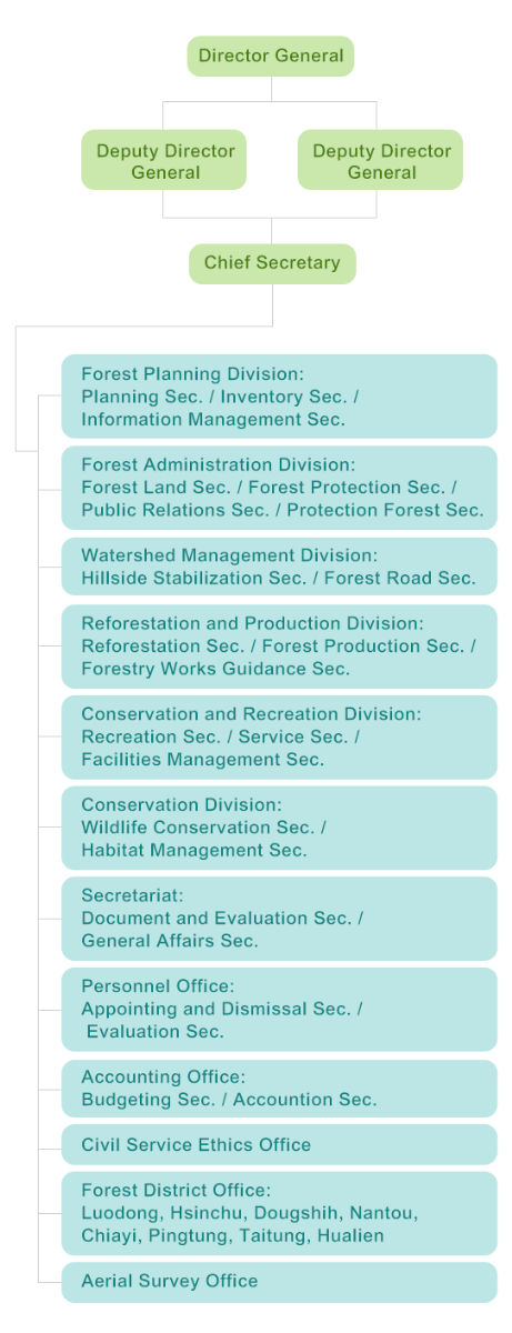 ORGANIZATION CHART OF FORESTRY BUREAU